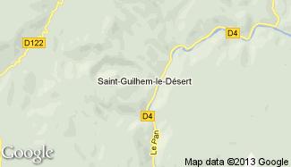 Plan de Saint-Guilhem-le-Désert
