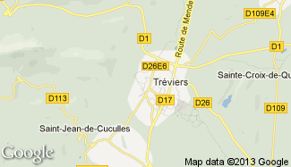 Plan de Saint-Mathieu-de-Tréviers
