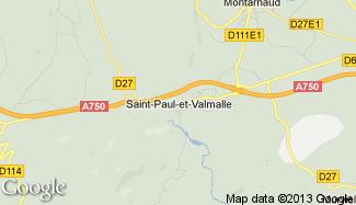Plan de Saint-Paul-et-Valmalle