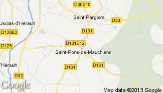 Plan de Saint-Pons-de-Mauchiens