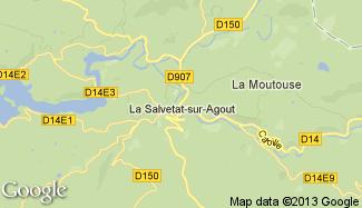 Plan de La Salvetat-sur-Agout