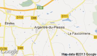 Plan de Argentré-du-Plessis