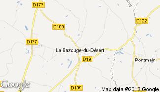 Plan de La Bazouge-du-Désert