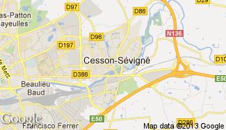 Plan de Cesson-Sévigné