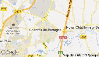 Plan de Chartres-de-Bretagne
