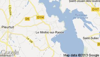 Plan de Le Minihic-sur-Rance
