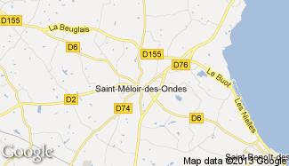 Plan de Saint-Méloir-des-Ondes