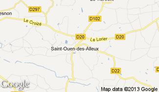Plan de Saint-Ouen-des-Alleux