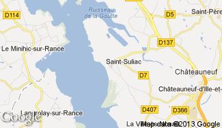 Plan de Saint-Suliac