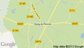 Plan de Azay-le-Ferron