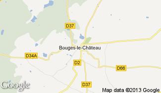 Plan de Bouges-le-Château