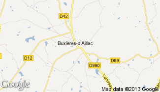 Plan de Buxières-d'Aillac