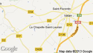 Plan de La Chapelle-Saint-Laurian