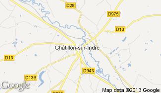 Plan de Châtillon-sur-Indre