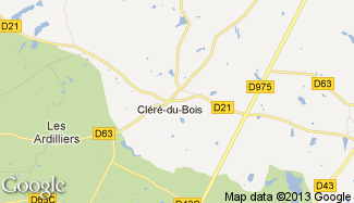 Plan de Cléré-du-Bois
