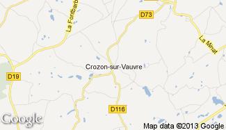 Plan de Crozon-sur-Vauvre