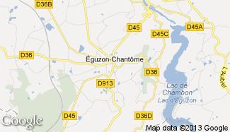 Plan de Éguzon-Chantôme