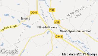 Plan de Fléré-la-Rivière