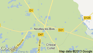Plan de Neuillay-les-Bois