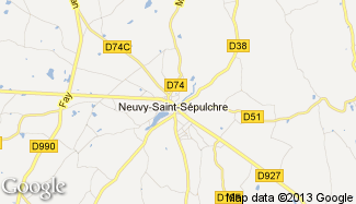 Plan de Neuvy-Saint-Sépulchre