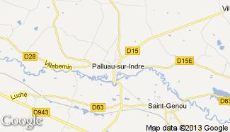 Plan de Palluau-sur-Indre