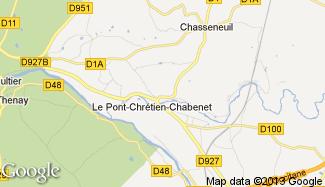 Plan de Le Pont-Chrétien-Chabenet