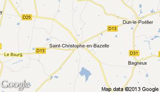 Plan de Saint-Christophe-en-Bazelle