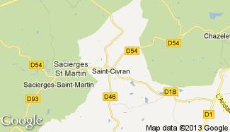 Plan de Saint-Civran