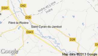 Plan de Saint-Cyran-du-Jambot
