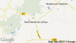 Plan de Saint-Martin-de-Lamps