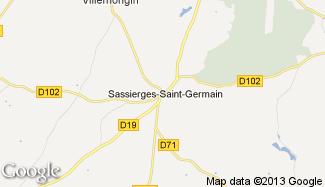 Plan de Sassierges-Saint-Germain