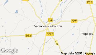 Plan de Varennes-sur-Fouzon