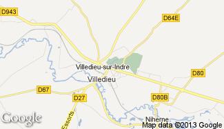 Plan de Villedieu-sur-Indre