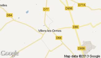 Plan de Villers-les-Ormes
