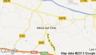 Plan de Athée-sur-Cher