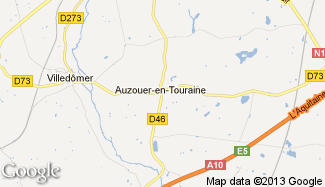 Plan de Auzouer-en-Touraine