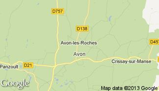 Plan de Avon-les-Roches
