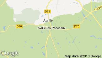 Plan de Avrillé-les-Ponceaux