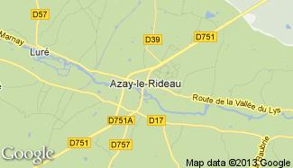 Plan de Azay-le-Rideau