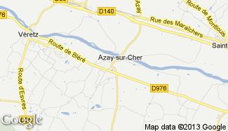 Plan de Azay-sur-Cher