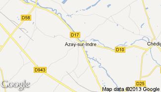 Plan de Azay-sur-Indre