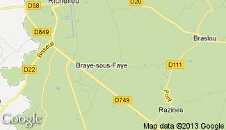 Plan de Braye-sous-Faye
