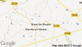 Plan de Braye-sur-Maulne