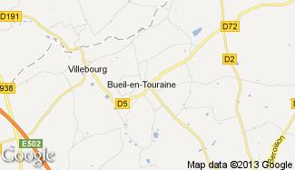 Plan de Bueil-en-Touraine