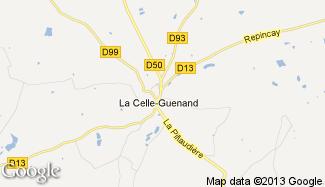 Plan de La Celle-Guenand