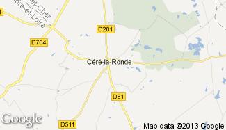 Plan de Céré-la-Ronde