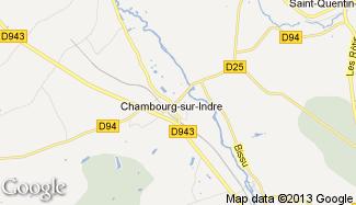 Plan de Chambourg-sur-Indre