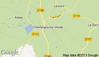 Plan de Champigny-sur-Veude