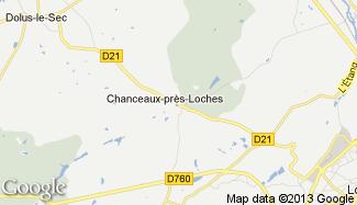 Plan de Chanceaux-près-Loches