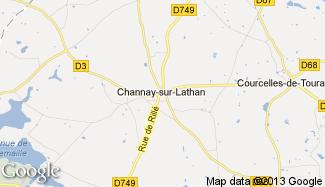 Plan de Channay-sur-Lathan